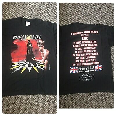 Iron Maiden Vintage M / L Rare Dance Of Death World Tour 2003 UK O2 T Shirt