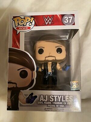 Funko Pop! Wwe Aj Styles Common Vaulted  New In Box