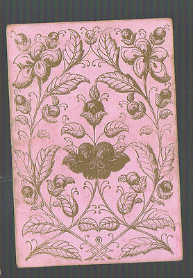 Playing  Cards 1 ANTIQUE SQUARE  CORNER BRANCH OF LARGE BERRIES  SQ8 C1800/'S