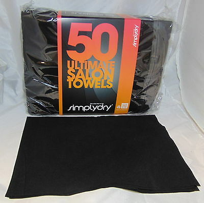 Disposable Black Salon Hair Towels Drying Hairdressing-Beauty-Grooming Dogs-Cats