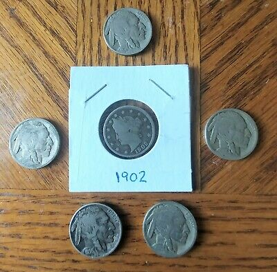 Semi Key 1927 S 1928 S 1929 S 1930 S Buffalo Nickels 4 Coins total