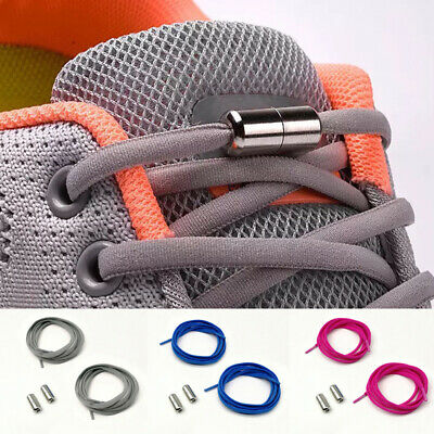 1Pair Unisex Lazy Elastic Shoelaces Round No Tie Running Sneakers Shoe Laces