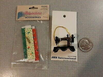 FS502 Miniature Dollhouse 1:12 Scale 3 FABRIC BOLT /& ACCESSORIES KIT