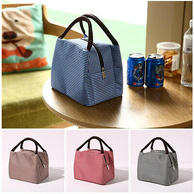 Adults Kids Lunch Bags Insulated Cool Bag School Picnic Bag Foldable Lunchbox UK