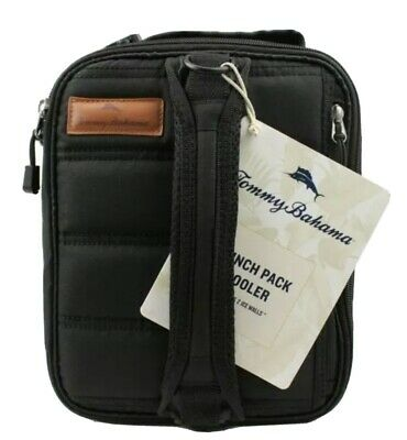 Tommy Bahama Zipperless Lunch Cooler Black New