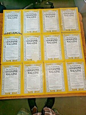 Vintage 1939 Entire Year Lot 12 NATIONAL GEOGRAPHIC Magazine 1930's Complete