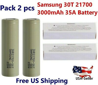 2x Samsung INR21700-30T 35A 3000mAh Rechargeable High Drain 3.7V 21700 Battery