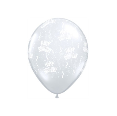 """Pack of 5 Halloween Bats Diamond Clear 11/"""" Latex Balloons 10 or 25"""