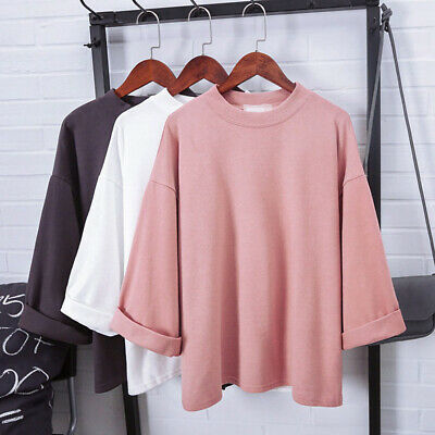 Korean Fashion New Women Girl Casual Short Sleeve T Shirt Loose Blouse Tops 7 76 Picclick