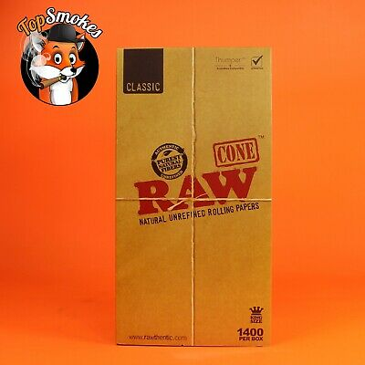 RAW 1400 Classic King Size Cones 109mm Pre Rolled Hemp Cones FREE SHIPPING USA