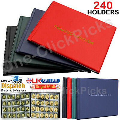 240 Album Coin Penny Money Collection Collecting Storage Book Case Holder Folder
