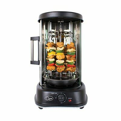 Quest Electric Rotisserie Grill for Kebabs, Skewers and Roasts, 1500 W black