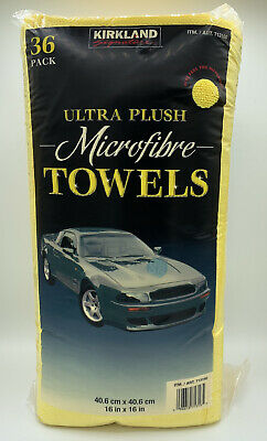 Kirkland 40cm Microfibre Ultra Plush Soft Towels Cloths 36 Pack Car Detailing