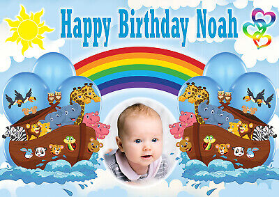 2 personalised birthday banner photo 007 movie theme children adult party poster