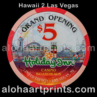 $5 Holiday Inn Boardwalk Casino Poker Chip Mint Condition Paulson