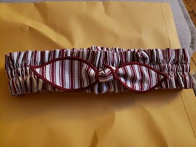 GARTER ONLY Longaberger #2616617 Small Holiday BERRY RED STRIPE Fabric New