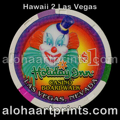 $1 Holiday Inn Boardwalk Casino Poker Chip Mint Condition Paulson