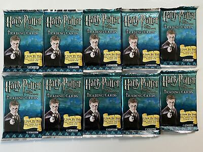 Harry Potter and the Order of the Phoenix Card Pack Lot 10 Sealed Packs