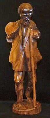 Vintage Hand Carved Wooden Figure from Ecuador