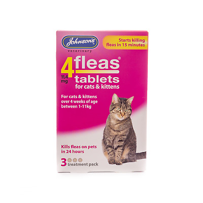 JOHNSONS 4fleas Tablets Cats and Kittens 3 Pack - Treatment