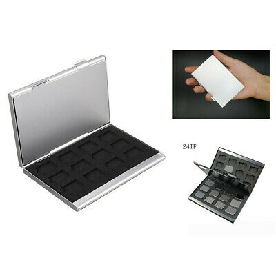 Aluminum Memory Card Storage Case Box Holders For Micro Card 24TF