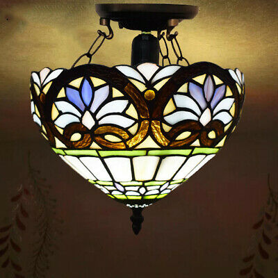 Tiffany Style Ceiling Light Handcrafted Gift Art Uplighters Stained Glass Lamps 53 99 Picclick Uk