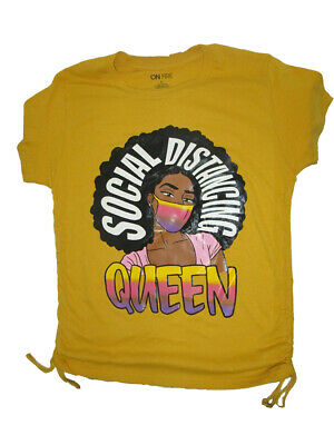 Social Distance queen t-shirt white FOTL new funny//casual loungewear top