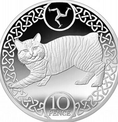 Isle Of Man Coin 10p Pence 2017 Manx Cat New UNC From Bank Bags Pet Animal