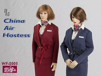 """Wolford Toys WFS005B 1//6 China Air Hostess Set Fit 12/""""Female PH S32A Body"""