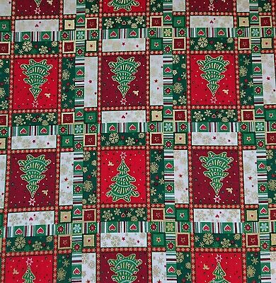 Father Christmas Red printed craft bunting patchwork novelty fabric