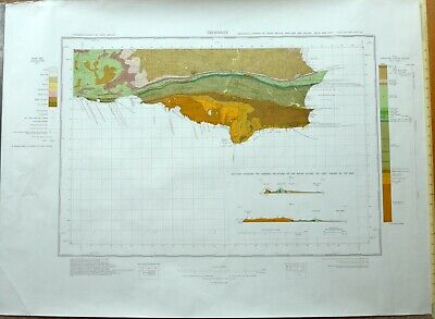 GEOLOGICAL Ordnance Survey Sheet Map - SWANAGE 1976 - SOLID & DRIFT