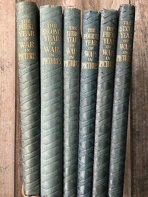 Odhams 6 Volumes from the War In Pictures Series Accept Various Hardback