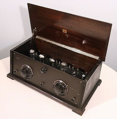 Case Radio Apparatus Model 60A Indiana Mfg Antique 1926 Tabletop Tube Tuner