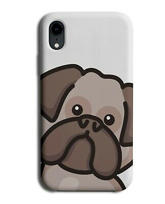 Funny Kids Cartoon Bulldog Face Phone Cover Case Childrens Dogs Character J071
