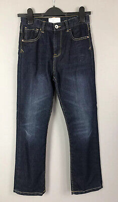 "Matalan Age 11 Boys Jeans Straight Fit Dark Blue Denim Adjustable Waist 25"" Leg"