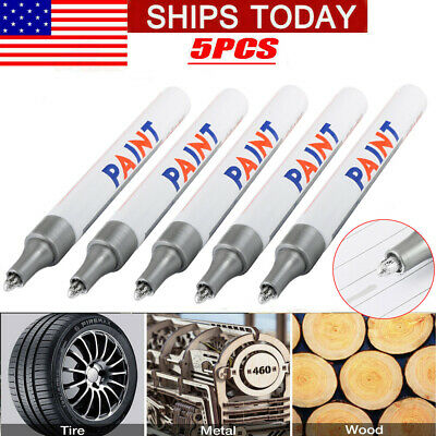 5X White Paint Pen Marker Waterproof Permanent Car Tire Lettering Rubber Letter