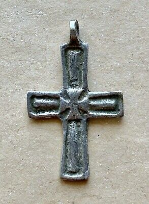 Byzantine Silver Pectoral Cross With Decorations. A Beautiful Artifact!