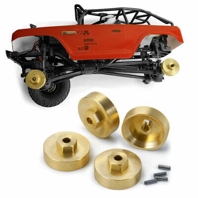 1set Gold Brass Hex Adapters for AXIAL SCX24 AXI90081 1/24 RC Crawler New