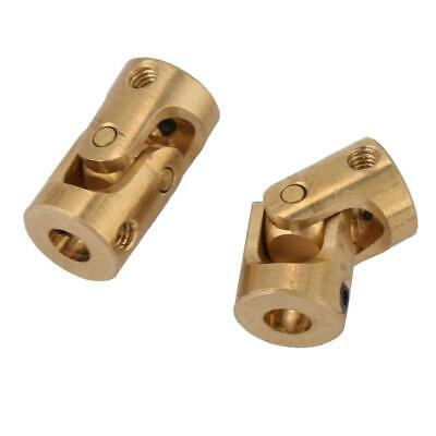 2pcs 3*3mm Shaft Coupling Motor Connector DIY Steering Brass Universal Joint New