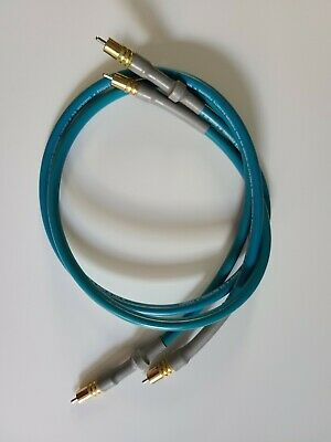 XAD INTERCONNECT CARDAS 2X 21.5awg Cable 1m RCA//RCA Locking gold plated plugs
