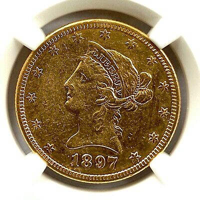 1897-S Gold Eagle $10 U.S. Liberty Coronet Head NGC Almost Uncirculated (AU)