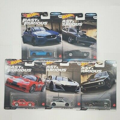 IN STOCK great deal 5 Car Set Full Force 2020 Hot Wheels Fast Furious Case H