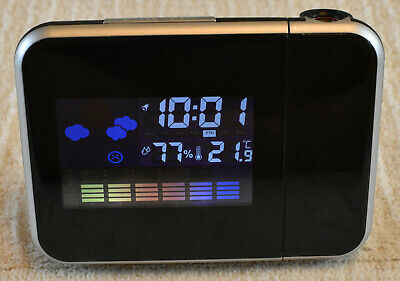 Thermo Projection Clock Gadget Co Time Projection And Alarm With Snooze 3 06 Picclick Uk