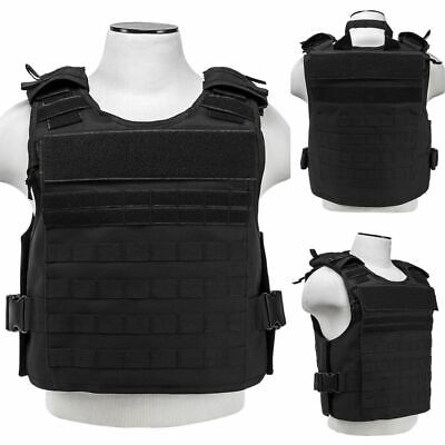 ARMORED VEST Bulletproof Carrier Army Tactical Police SWAT M-2XL Grey NO PLATES