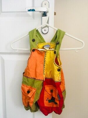 Vintage Baby/Childrens Dungarees - 12-18 Month - Retro Baby Clothes - Karmagear