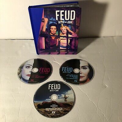 FEUD Bette and Joan Complete Series 3 DVD Set PRESS BOOK FX Emmy FYC promo rare
