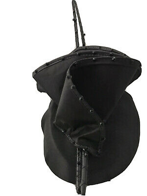 Black Percher Fascinator With Swarovski Crystals