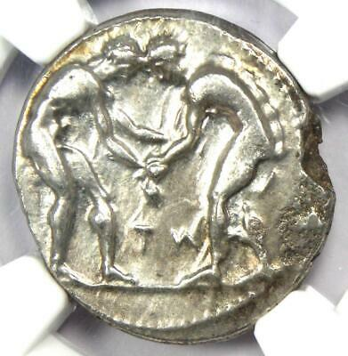 Pamphylia Aspendus AR Stater Wrestlers Coin 380-325 BC - Certified NGC Choice XF