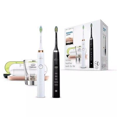 Philips Sonicare HX9392/39 DiamondClean Twin Pack Toothbrush - Rose Gold & Black