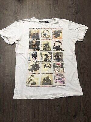Vintage Retro Bershka Graphic T-shirt. Size Small
